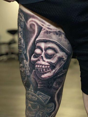 tatuajes de dioses aztecas dios de la muerte