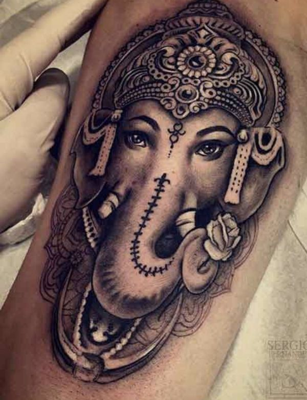tatuajes de elefantes indios referencia ganesha