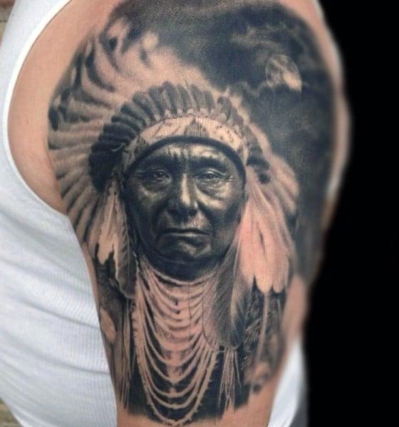 tatuajes de indios americanos foto realistas