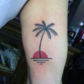 tatuajes de islas con palmeras clasicos