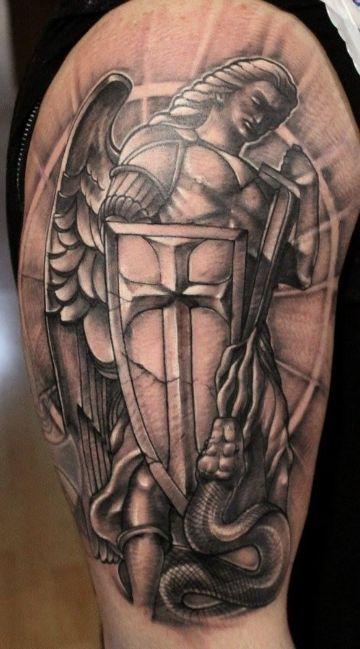 tatuajes de san miguel arcangel protección
