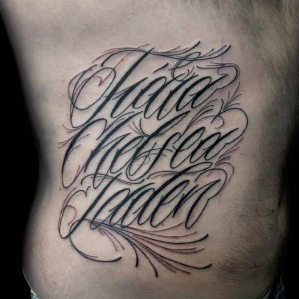 letra para tatuajes en cursiva exhaustivos detalles