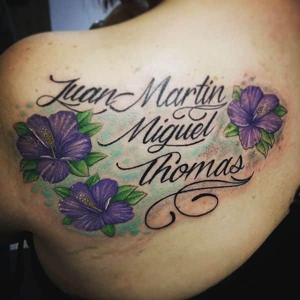 tatuajes con el nombre de juan y de los otros hijos