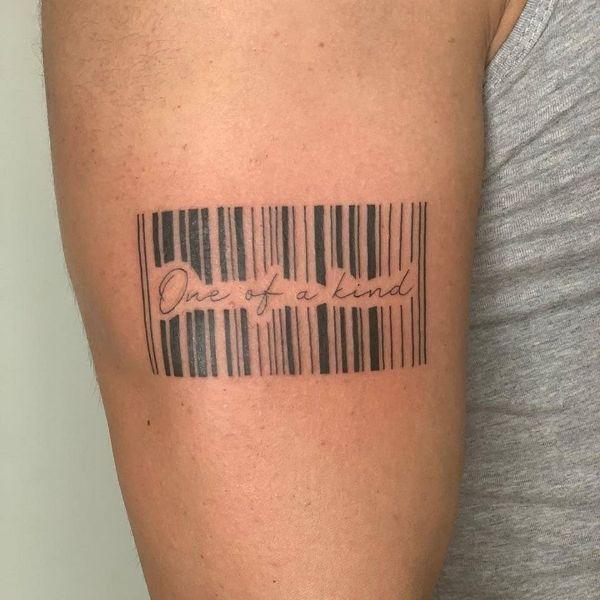 tatuajes de 5cm para hombres codigos de barras