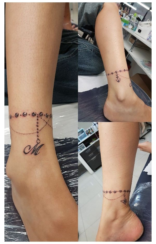 tatuajes de pulseras con nombres con iniciales