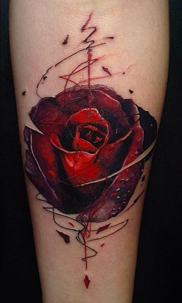 tatuajes de rosas en el brazo con efectos