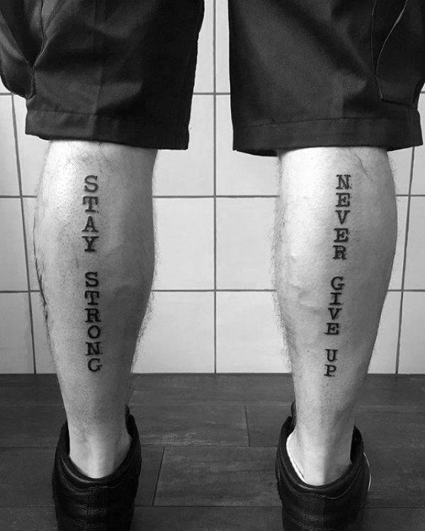 frases para tatuajes en la pierna formato vertical