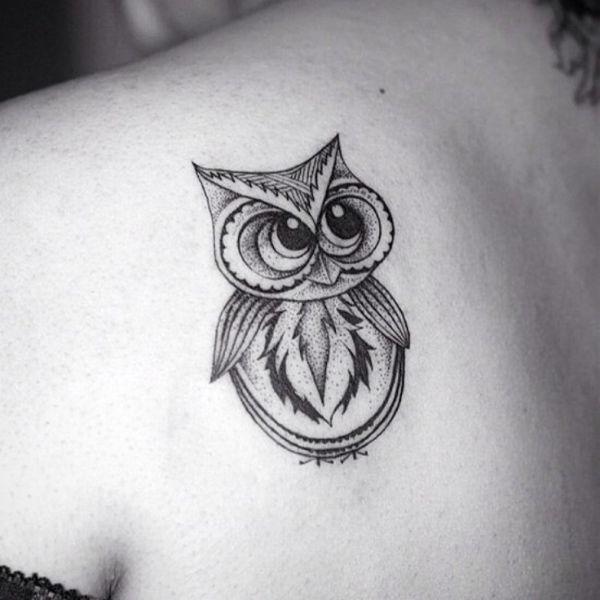 significado de tatuaje de buho pequeños