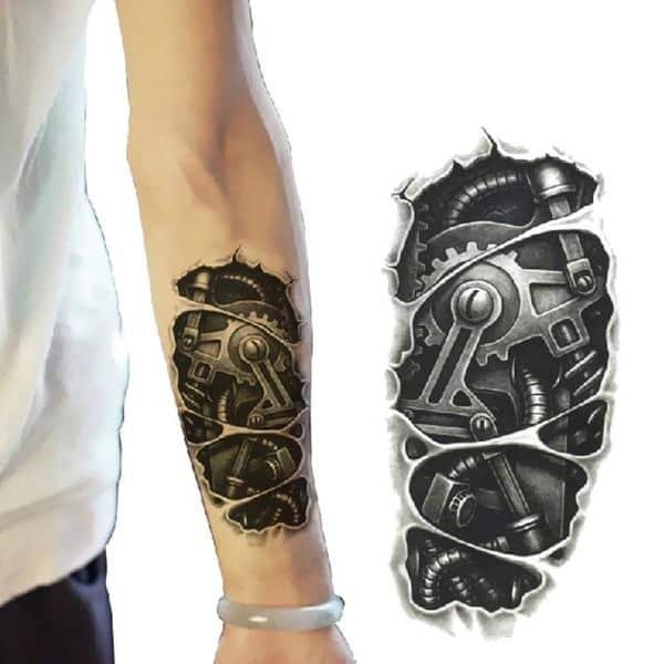 tatuajes de 10cm para hombres biomecanicos