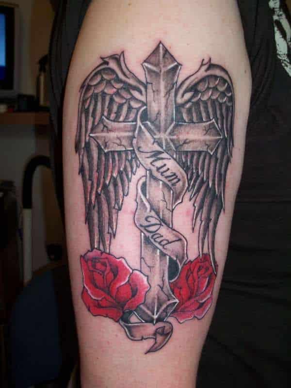 tatuajes de angelitos con frases en memoria