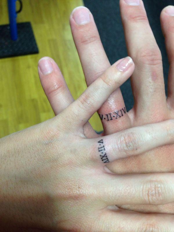 tatuajes de anillos en pareja fechas