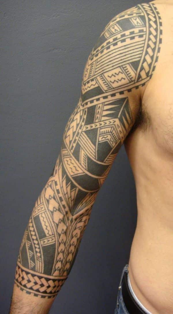 tatuajes de manga para hombre tribal