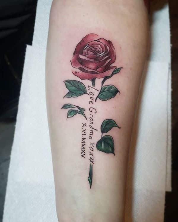 tatuajes en memoria de abuelos homenaje