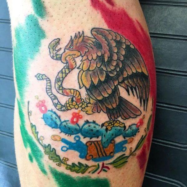 tatuajes de banderas de mexico contorno