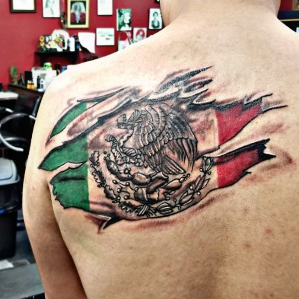 tatuajes de banderas de mexico efectos