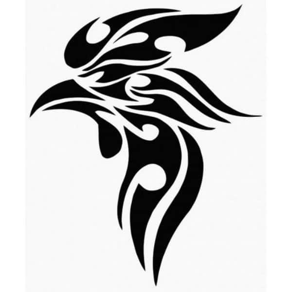 tatuajes de gallos tribales plantilla cabeza