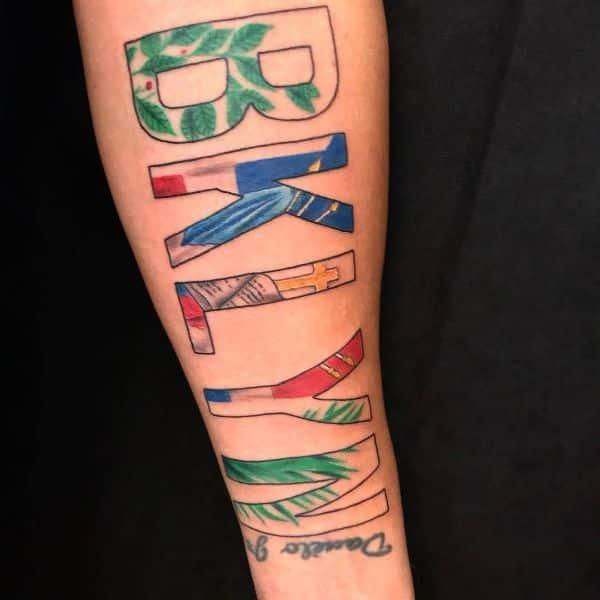 tatuajes de la bandera dominicana palabras y colores