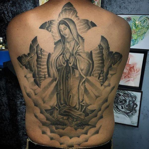 tatuajes de la virgen de guadalupe en espalda