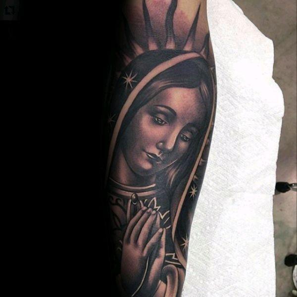 tatuajes de la virgen de guadalupe rostro