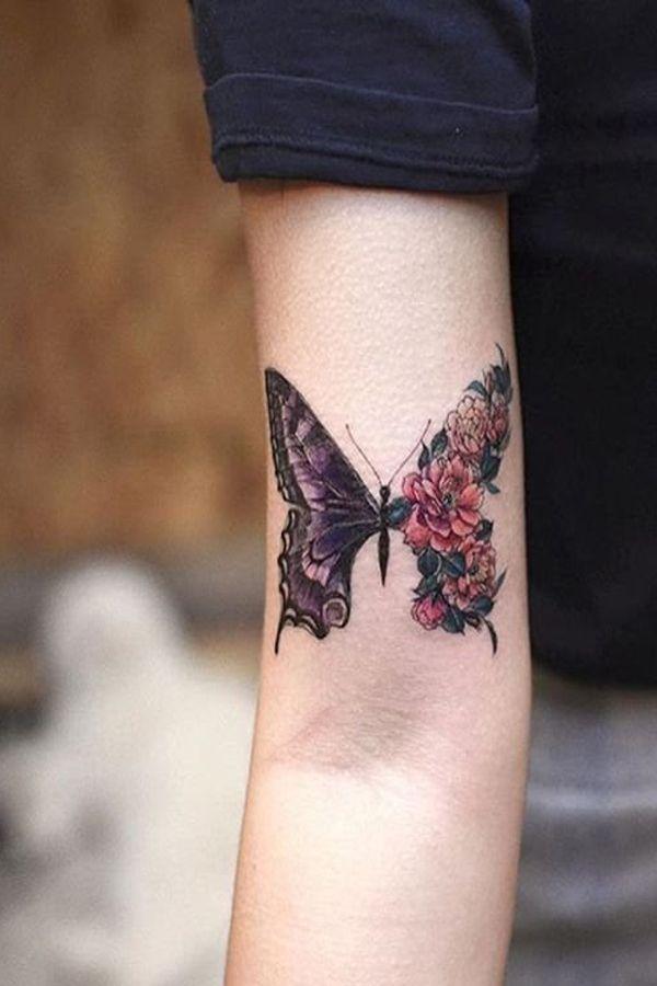 tatuajes de mariposas para hombres bajo dos texturas