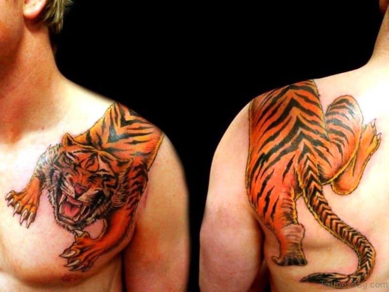 tatuajes encima del hombro animales
