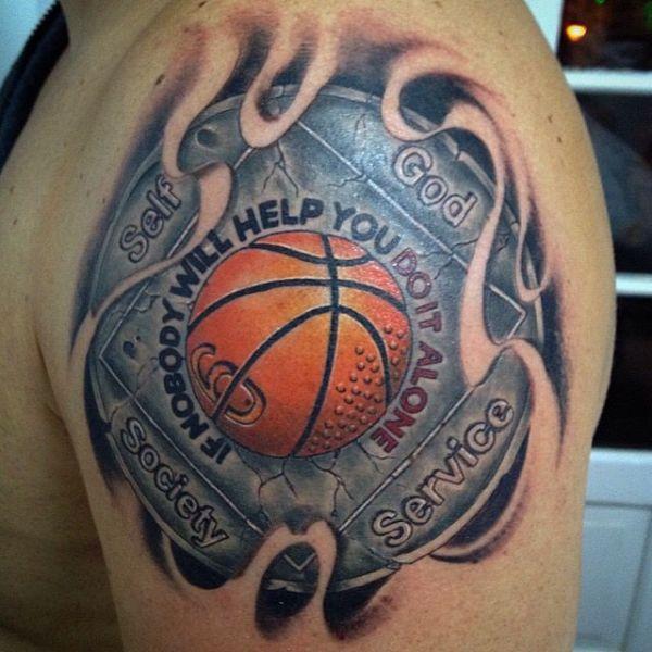 tatuajes de baloncesto para hombre alta definición