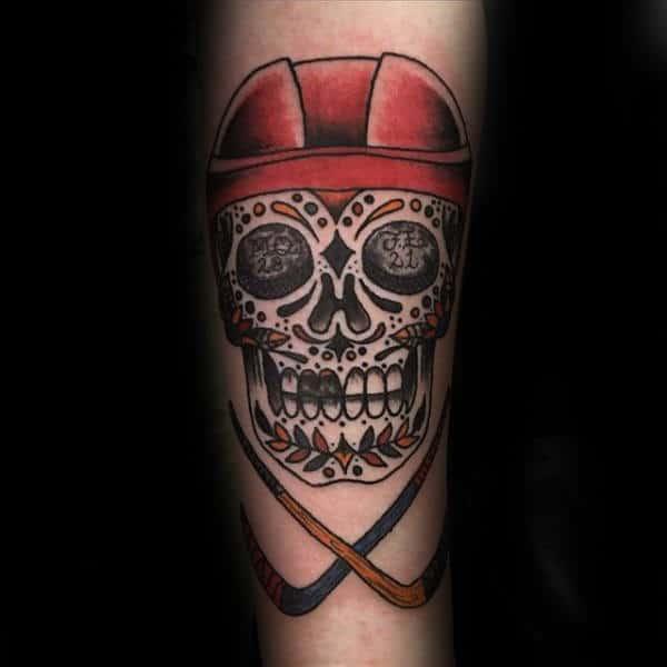 tatuajes de hockey sobre cesped tradicional
