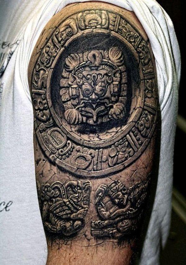 tatuajes de aztecas en el brazo asombrosas texturas