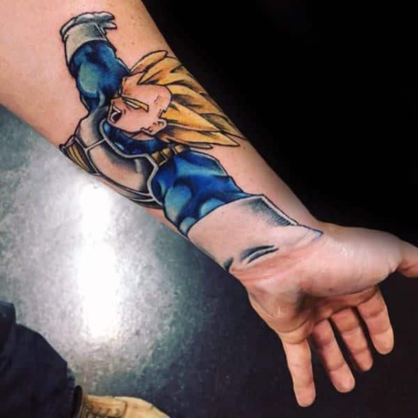 tatuajes de goku en el brazo con efectos