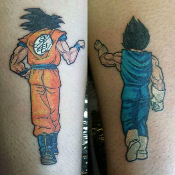 tatuajes de goku en el brazo para simbolizar