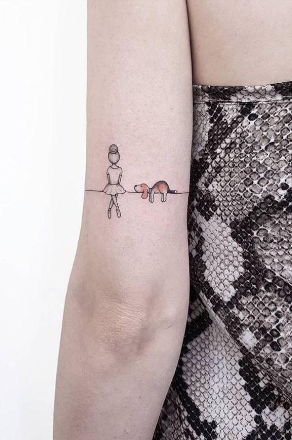 tatuajes de perros en el brazo concepto