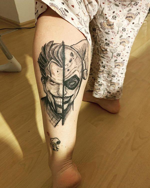 tatuajes del guason en el brazo y pierna