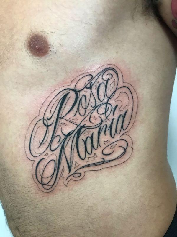 tatuajes con el nombre de rosa maria