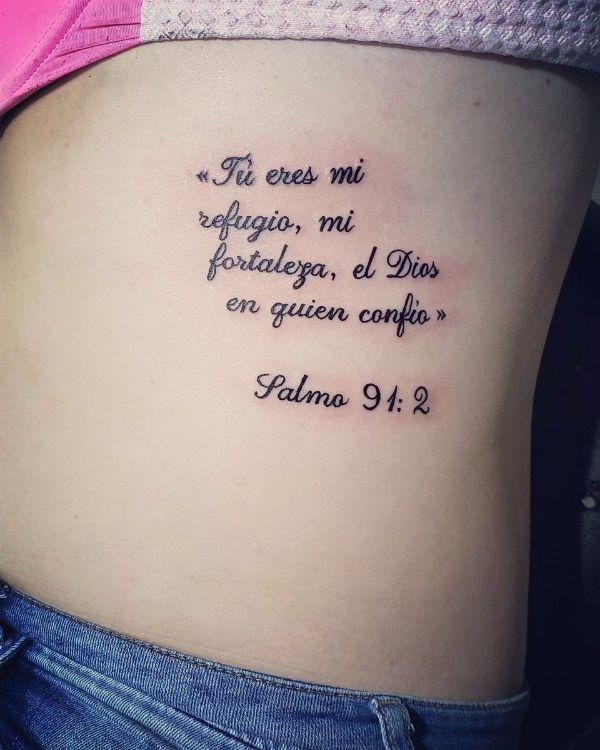 tatuajes de frases en las costillas salmos