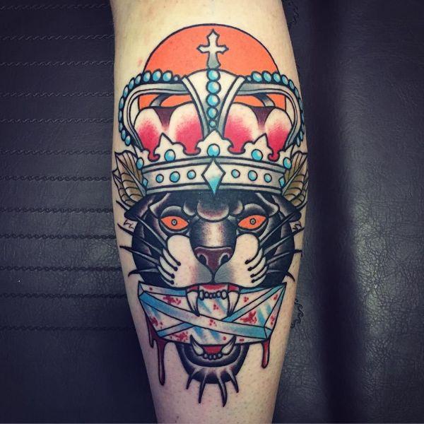 tatuajes de panteras en el brazo concepto
