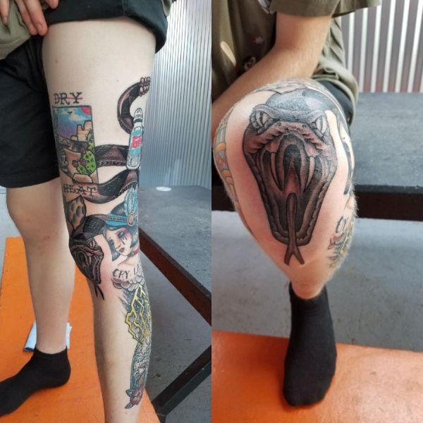 tatuajes de viboras de cascabel bajo efectos