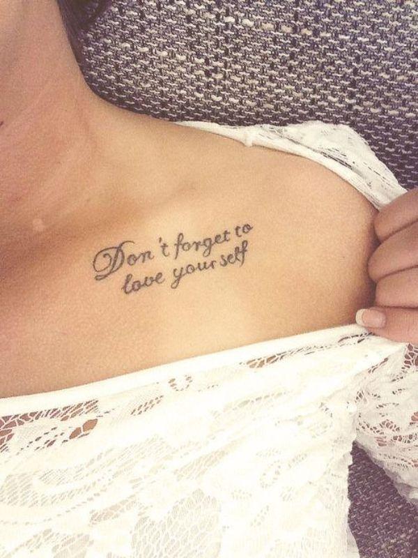 tatuajes con frases en ingles en pecho