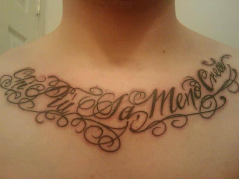 tatuajes en italiano para hombres en el pecho