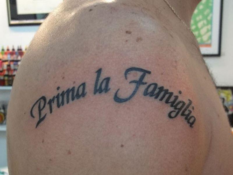 tatuajes en italiano para hombres sobre la familia