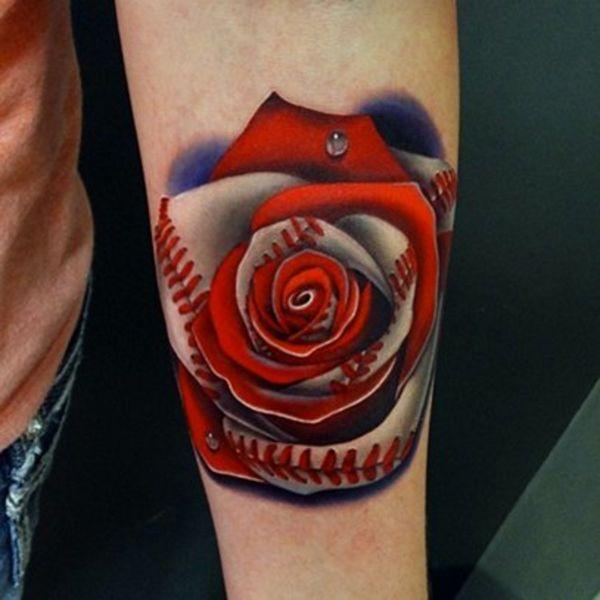 tatuajes de beisbol en el brazo pasion colorida